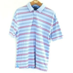 Tommy Hilfiger Blue Red Striped Polo Shirt